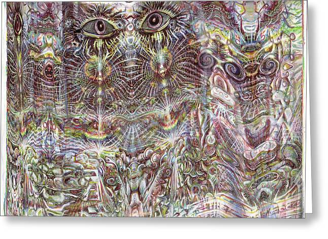 Les Yeux Sans Peur Greeting Card by Jeremy Robinson