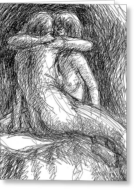 Lesbian Sketches  1 Greeting Card