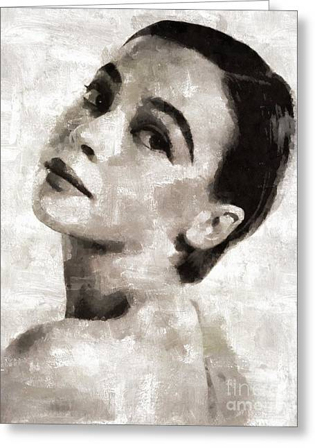 Leslie Caron, Actress Greeting Card