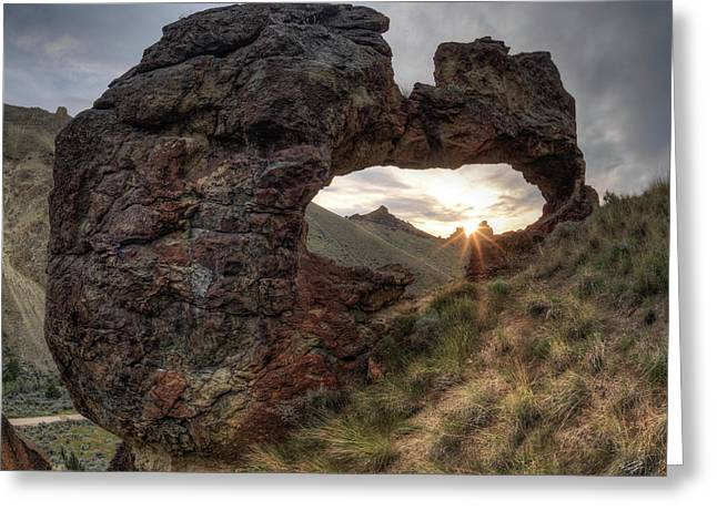 Leslie Gulch Arch 2 Greeting Card by Leland D Howard