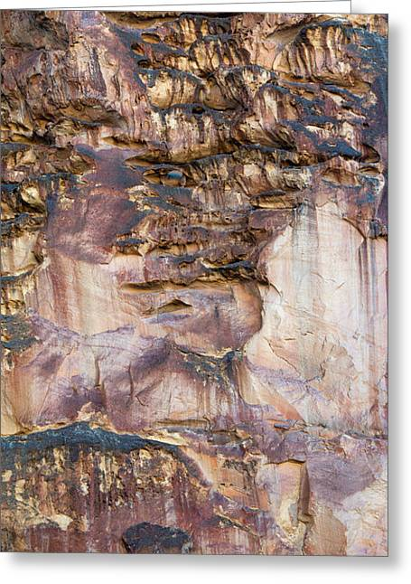 Leslie Gulch Cliff Vertical Greeting Card by Leland D Howard