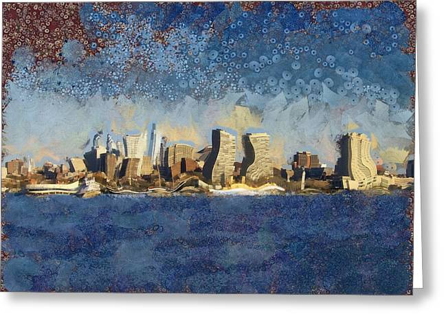 Less Wacky Philly Skyline Greeting Card