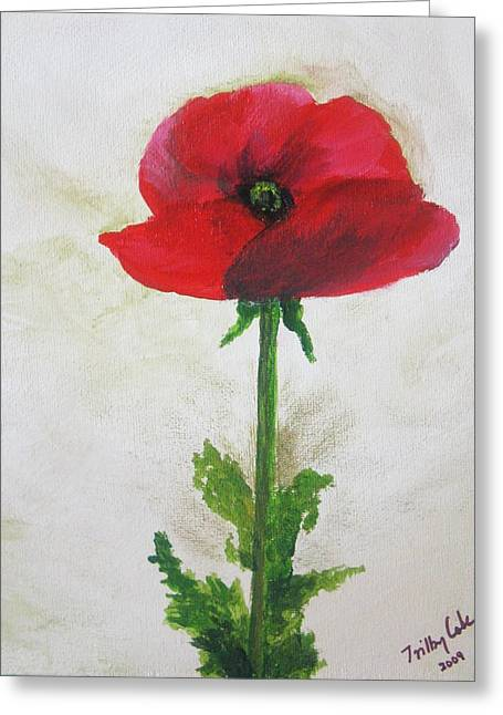 Greeting Card featuring the painting Lest We Forget by Trilby Cole
