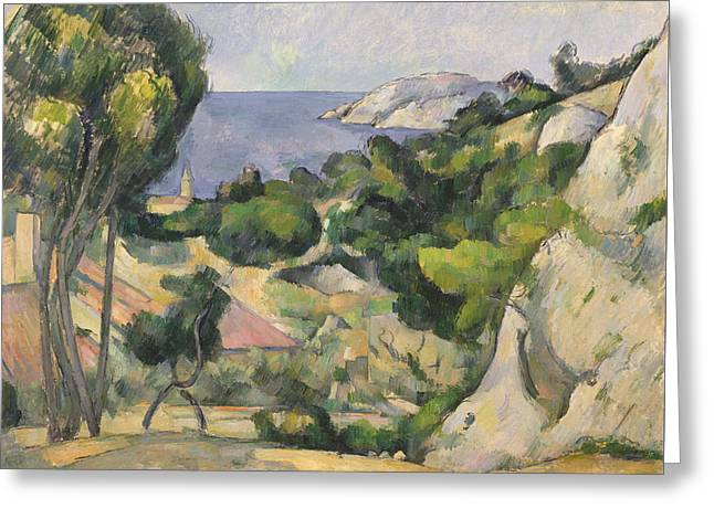 L'estaque Greeting Card by Paul Cezanne