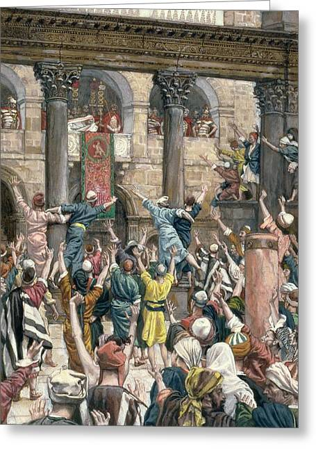 Pontius Greeting Cards - Let Him be Crucified Greeting Card by Tissot