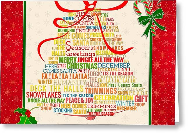 Let It Ring Words Greeting Card