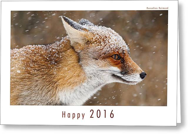 Let It Snow 6 - New Years Card Red Fox In The Snow Greeting Card