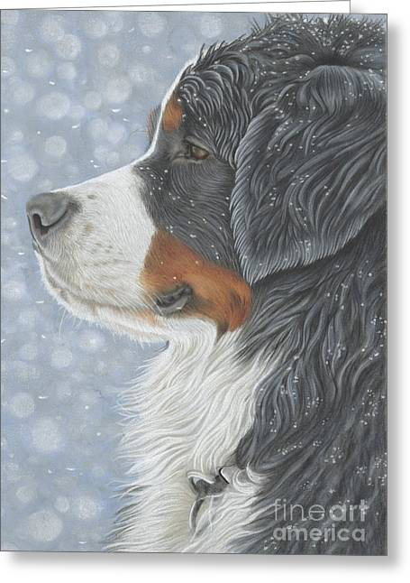 Greeting Card featuring the painting Let It Snow by Donna Mulley