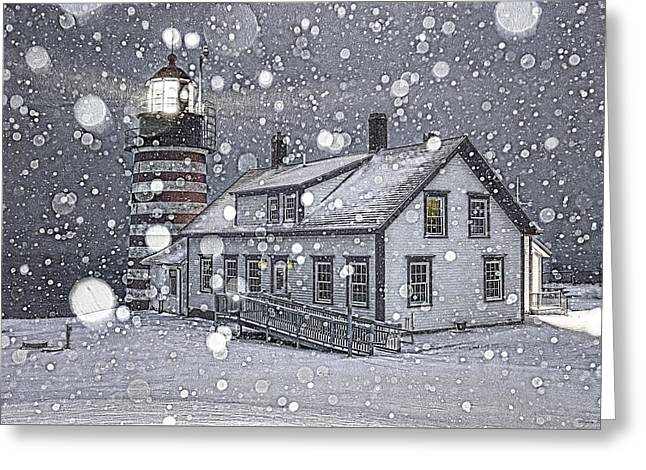 Let It Snow Let It Snow Let It Snow Greeting Card by Marty Saccone