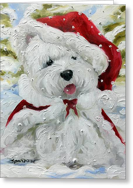 Let It Snow Greeting Card by Mary Sparrow