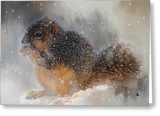 Let It Snow Greeting Card by Theresa Campbell