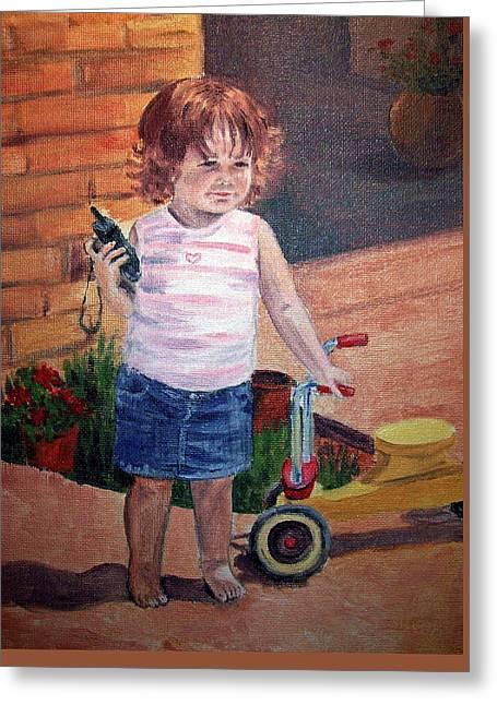 Let Me Call Papa Greeting Card by Irina Sztukowski