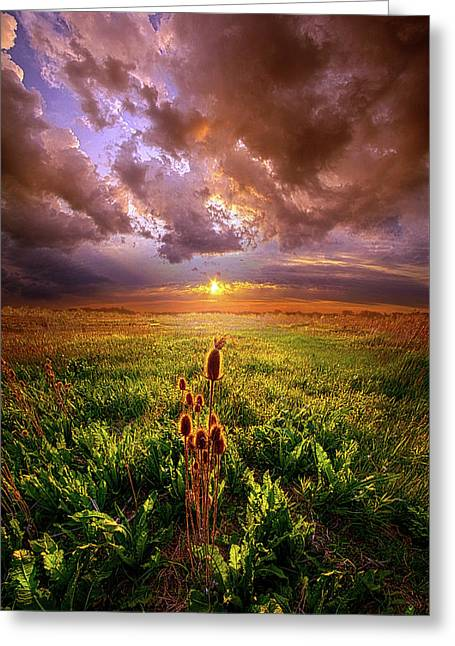 Let Me Not Wander Greeting Card by Phil Koch
