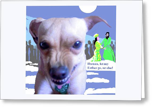 Let My Esther Go Greeting Card by Shirl Solomon