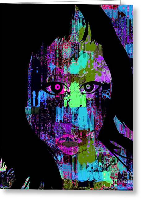 Let My Eyes Speak For Me Greeting Card by Fania Simon