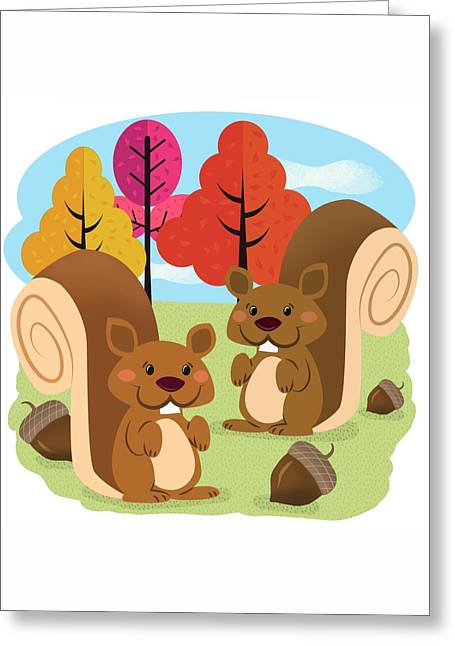Let The Acorns Fall Greeting Card