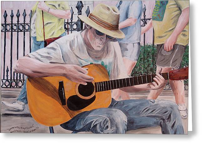 Let The Good Times Roll-new Orleans Blues Greeting Card by Kevin Callahan