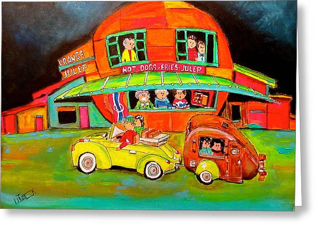 Let The Trip Begin At The Julep Greeting Card by Michael Litvack
