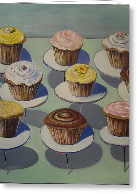 Let Them Eat Cupcakes Greeting Card by Yvonne Dagger