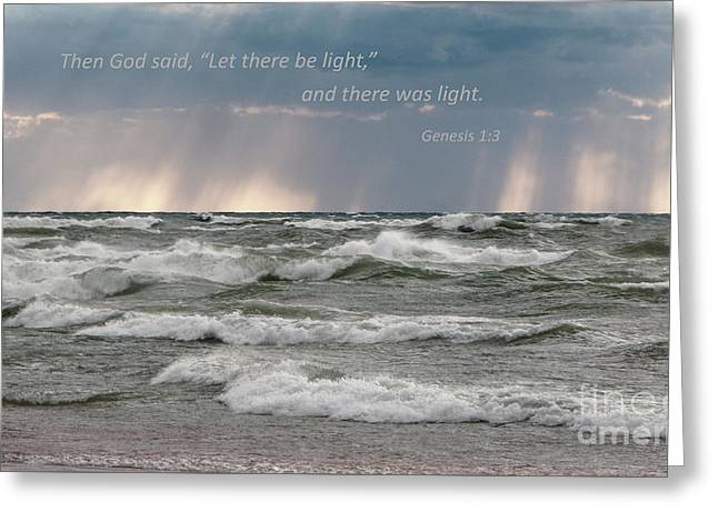 Let There Be Light Greeting Card