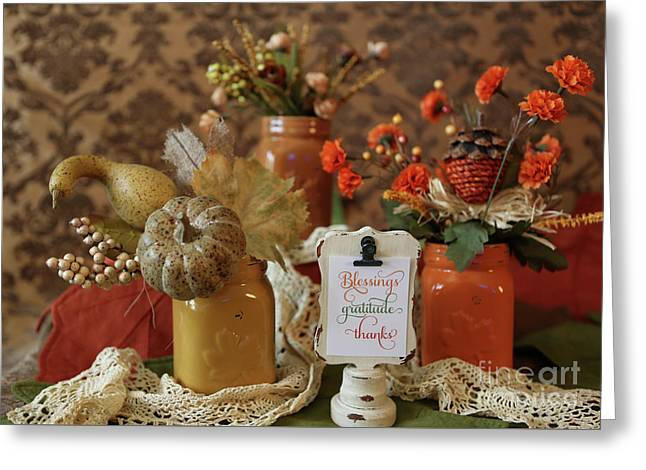 Let Us Give Thanks Greeting Card