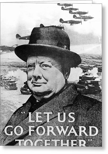 Let Us Go Forward Together Greeting Card