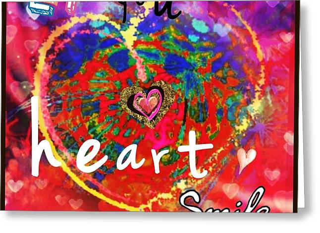 Let Your Heart Smile Greeting Card
