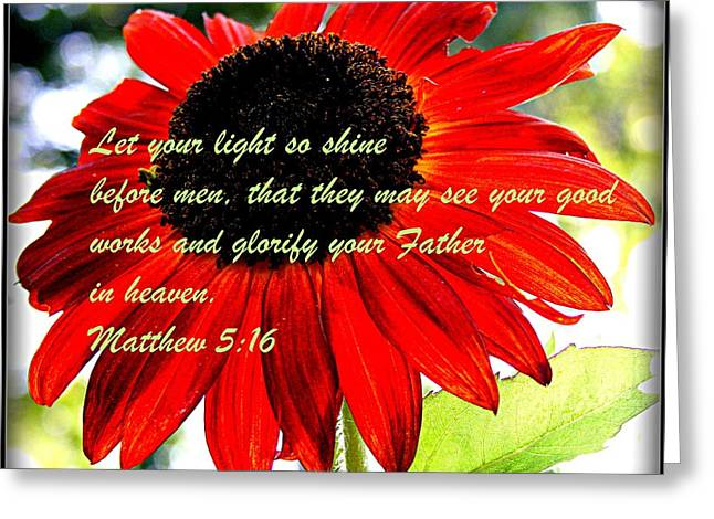 Let Your Light So Shine Greeting Card by Robert Babler
