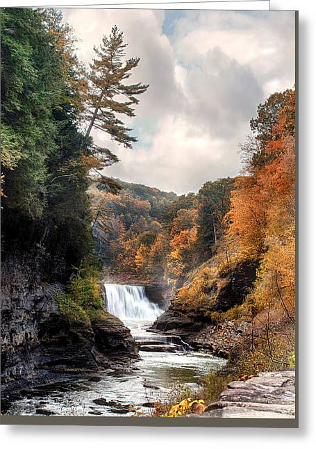 Letchworth Lower Falls 2 Greeting Card by Peter Chilelli