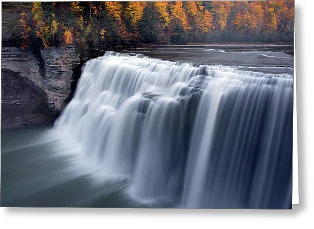Letchworth Middle Falls II Greeting Card by Timothy McIntyre