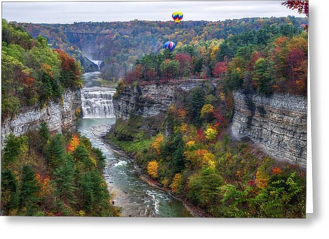 Letchworth Middle Falls Greeting Card by Mark Papke