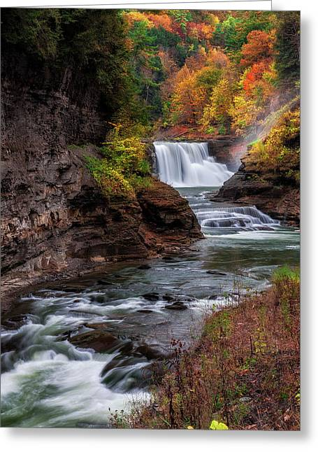 Letchworth State Park Lower Falls Greeting Card