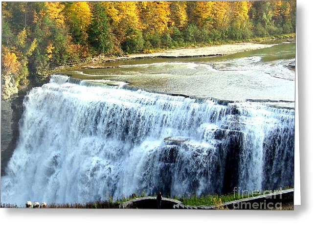 Letchworth State Park Middle Falls Autumn Greeting Card
