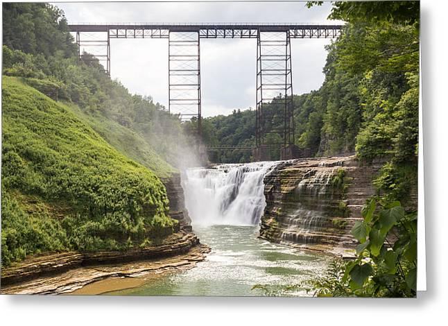 Letchworth Upper Falls Greeting Card