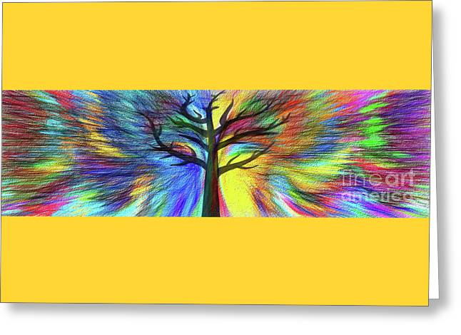 Let's Color This World By Kaye Menner Greeting Card by Kaye Menner