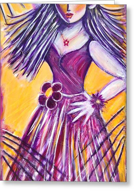 Greeting Card featuring the painting Let's Dance by Anya Heller