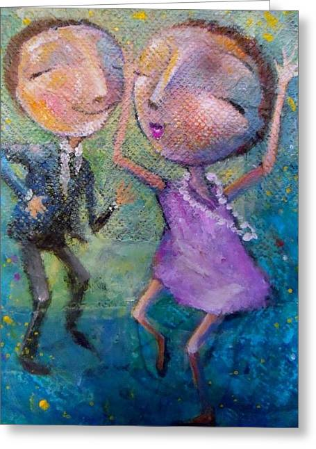 Greeting Card featuring the painting Let's Dance by Eleatta Diver
