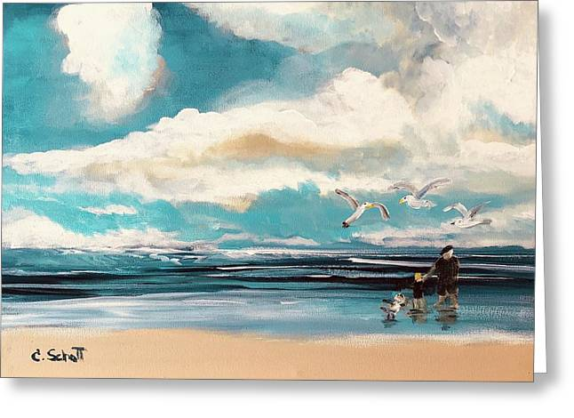 Let's Feed The Seagulls Greeting Card