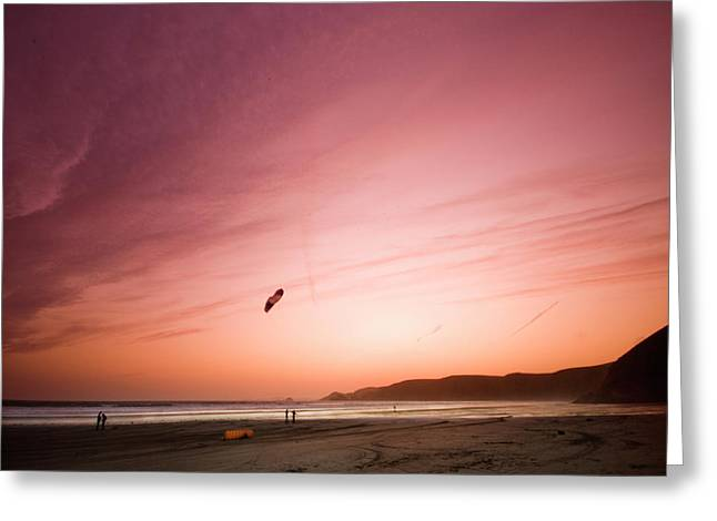 Lets Go Fly A Kite Greeting Card by Angel  Tarantella