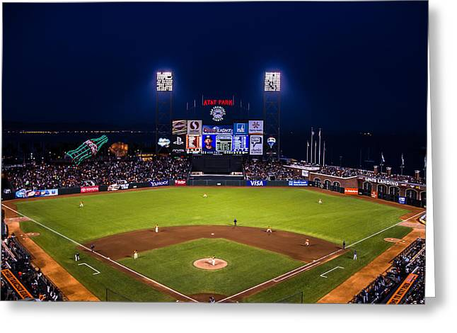Lets Go Giants Greeting Card by Rick DeMartile