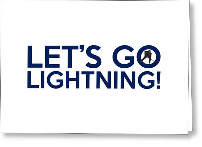 Let's Go Lightning Greeting Card