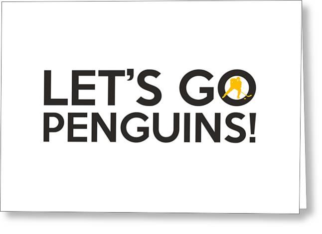 Let's Go Penguins Greeting Card