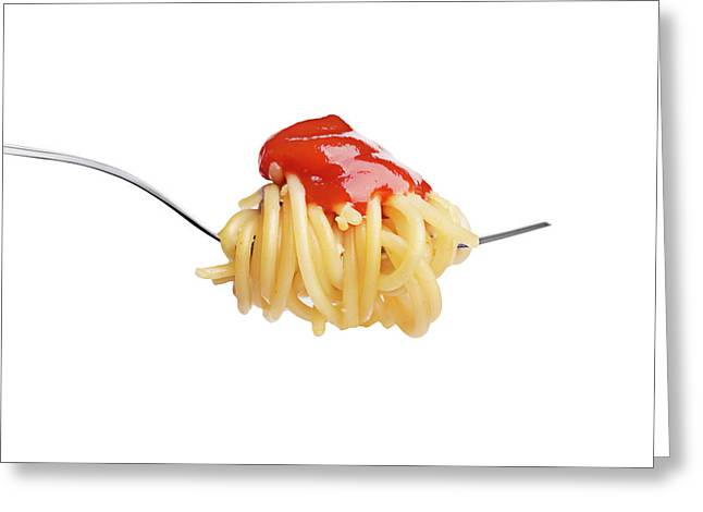 Let's Have A Pasta With Ketchup Greeting Card by Vadim Goodwill