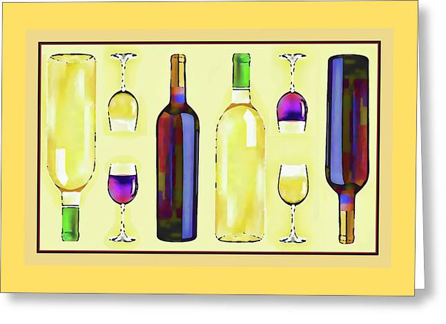 Let's Have Some Wine Greeting Card by Susan Lafleur