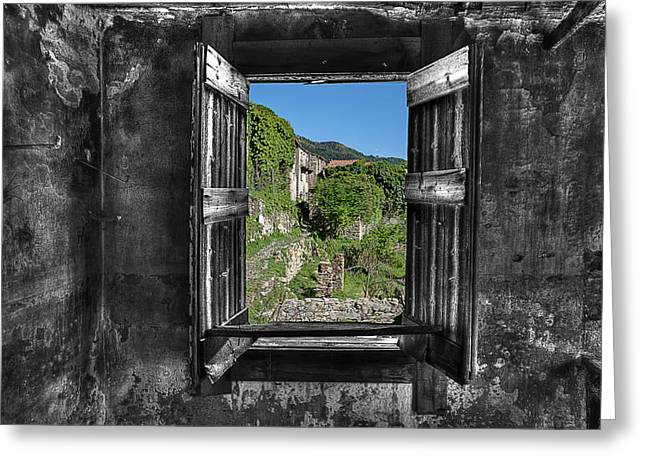 Let's Open The Windows - Apriamo Le Finestre Greeting Card