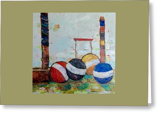 Let's Play Croquet Greeting Card