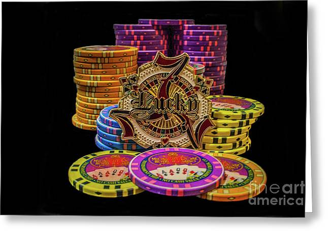 Lets Play Poker Greeting Card