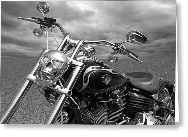 Greeting Card featuring the photograph Let's Ride - Harley Davidson Motorcycle by Gill Billington