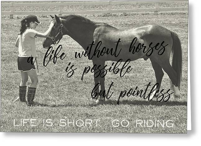 Let's Ride Quote Greeting Card