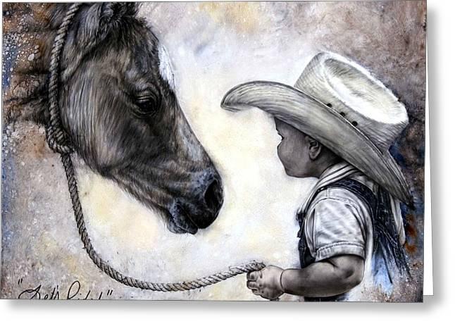 Lets Ride Greeting Card by Virgil Stephens